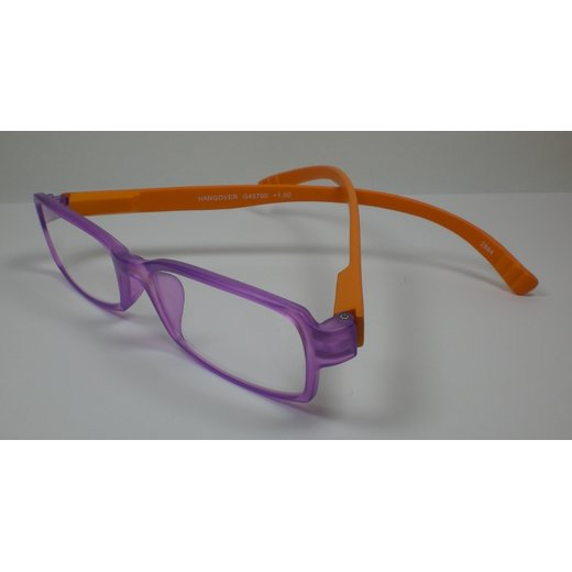 I NEED YOU Lesebrille +1,5 lange Bügel Hangover1 orange-lila Damen&Herren