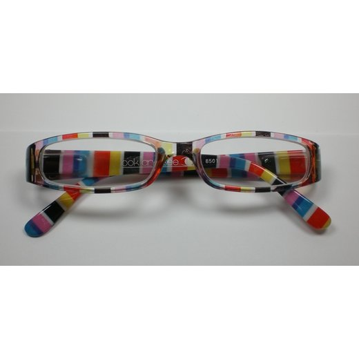 Look and see +1,5 Damen Designer Lesebrille M2 Lesehilfe Flexbügel Etui Multicolor