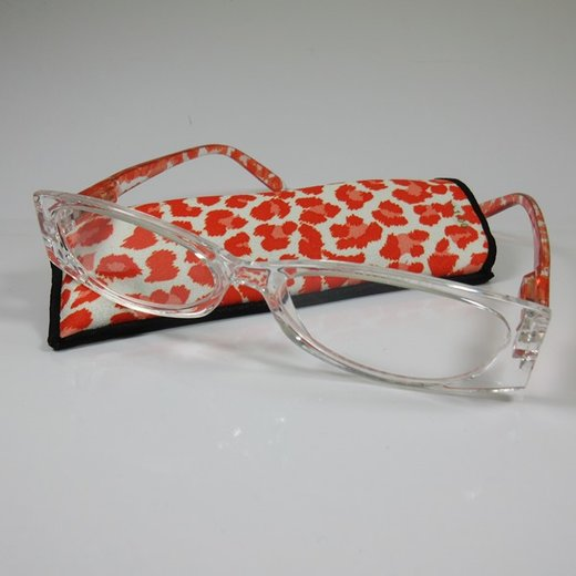 LOOK AND SEE Moderne Damen Lesebrille +3,5 orange/trans. Flexbügel Fertigbrille