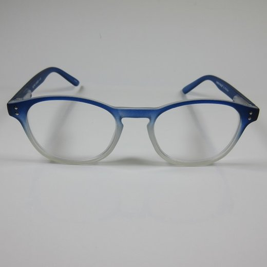 I NEED YOU Moderne Lesebrille +2,5  RETRO blau unisex Fertigbrille Flexbügel