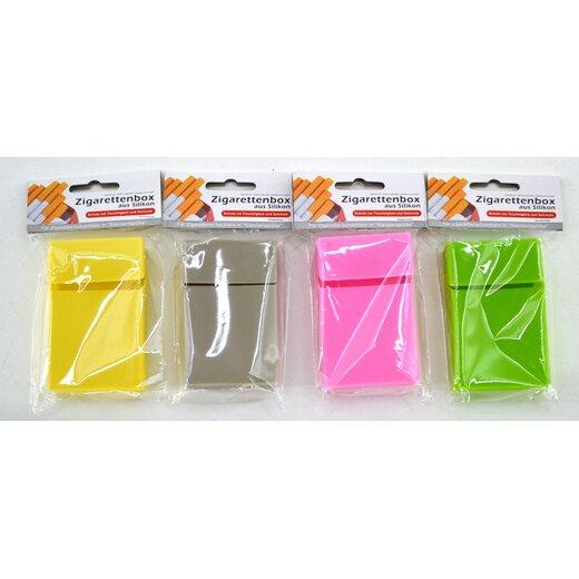 Zigarettenbox aus Silokon 4 Farben für ca 20 Zigaretten Zigarettenetui Etui